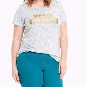 NWT Torrid Model Behavior Tee Shirt Top Sz 2